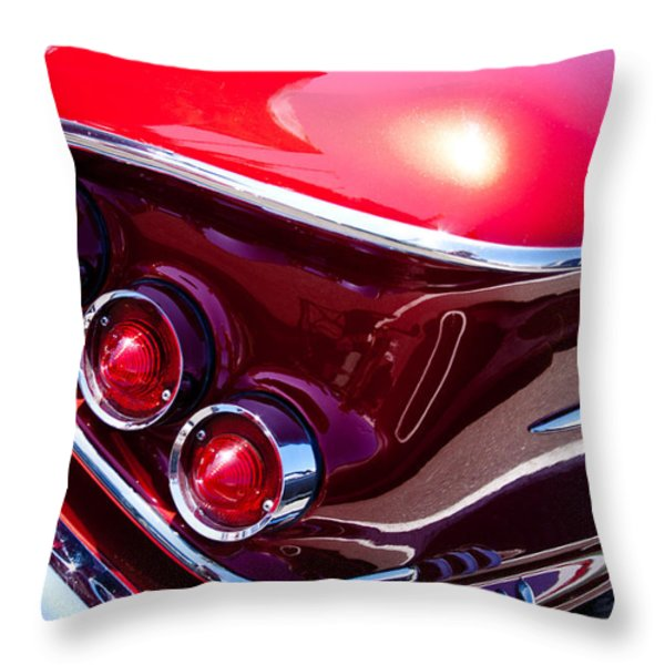 1958 Chevy Impala Throw Pillow by David Patterson