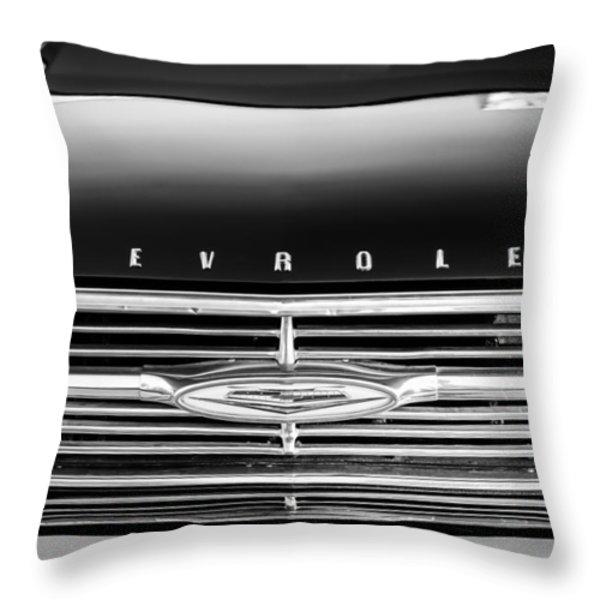 1960 Chevrolet El Camino Grille Emblem Throw Pillow by Jill Reger