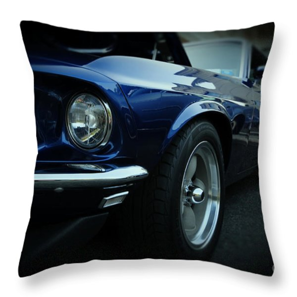 1969 Ford Mustang Mach 1 Fastback Throw Pillow by Paul Ward