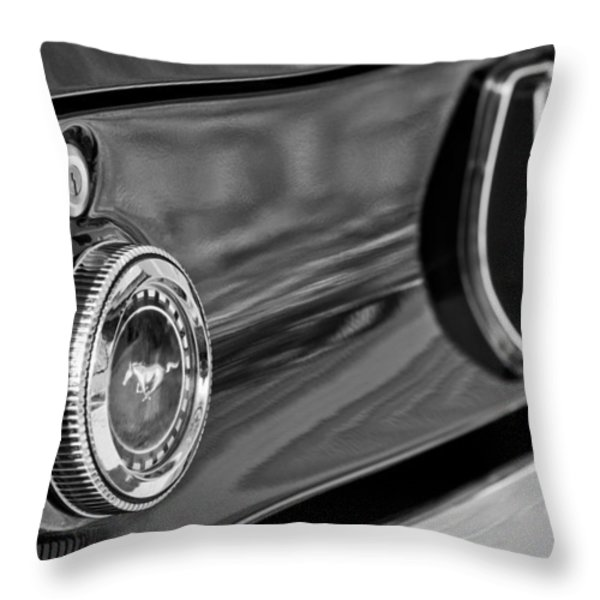 1969 Ford Mustang Taillights Throw Pillow by Jill Reger