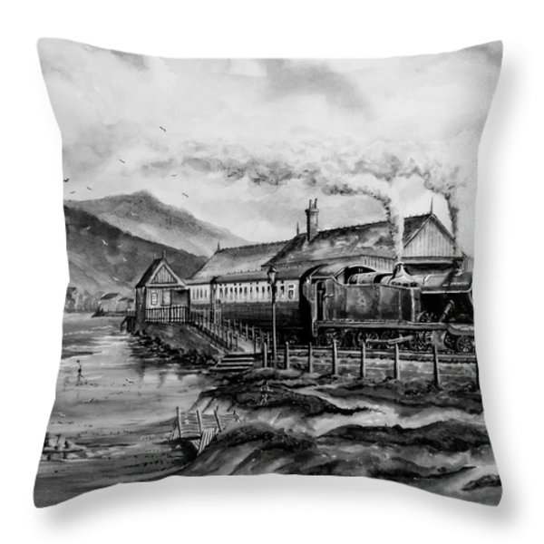 a day at the seaside Throw Pillow by Andrew Read