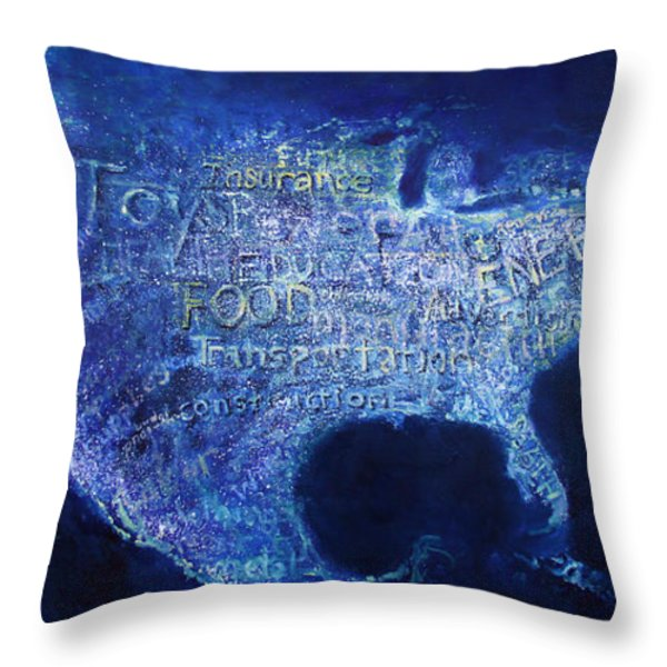 A View From Above Throw Pillow by Alan Schwartz