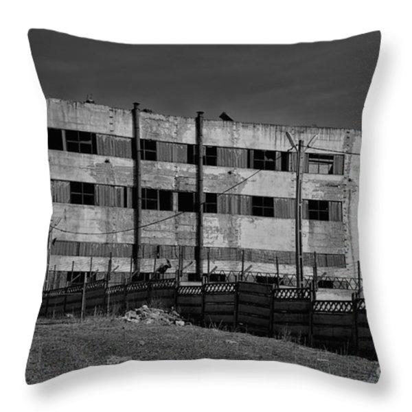 Abandoned Factory At Vadu Throw Pillow by Gabriela Insuratelu