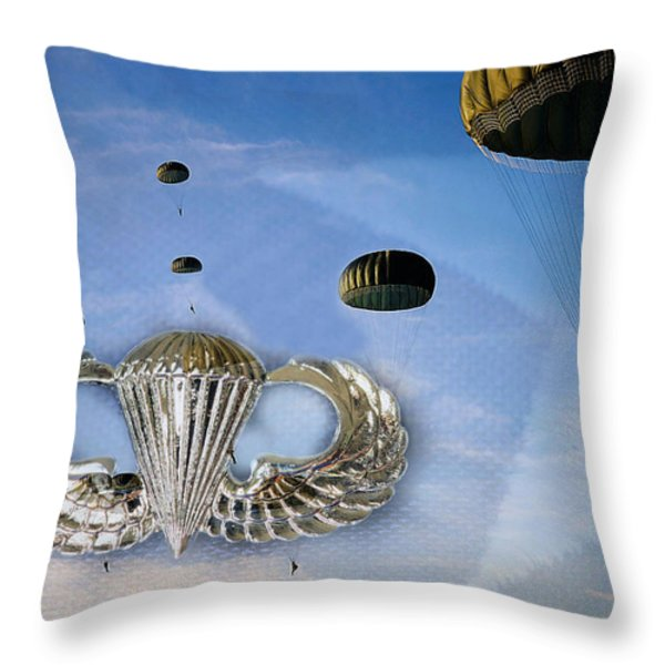 Airborne Throw Pillow by JC Findley