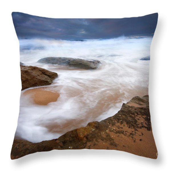 Angry Sea Throw Pillow by Mike  Dawson