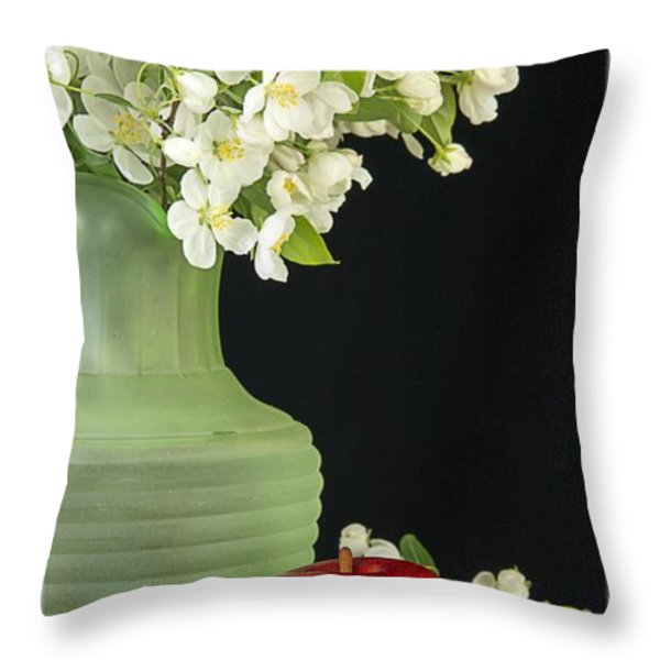 Apples Throw Pillow by Edward Fielding
