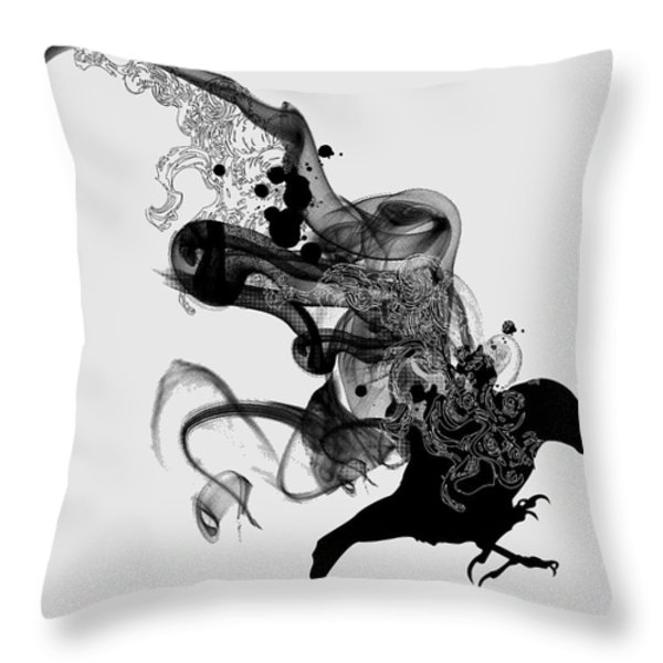 Ashes To Ashes Throw Pillow by Budi Kwan