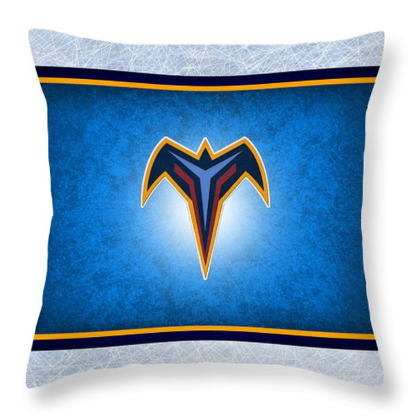Atlanta Thrashers Throw Pillow by Joe Hamilton