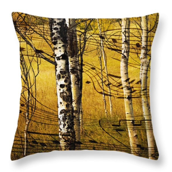 Autumn Sonata Throw Pillow by Theresa Tahara