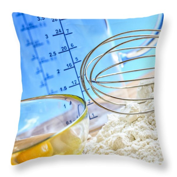 Baking Throw Pillow by Elena Elisseeva
