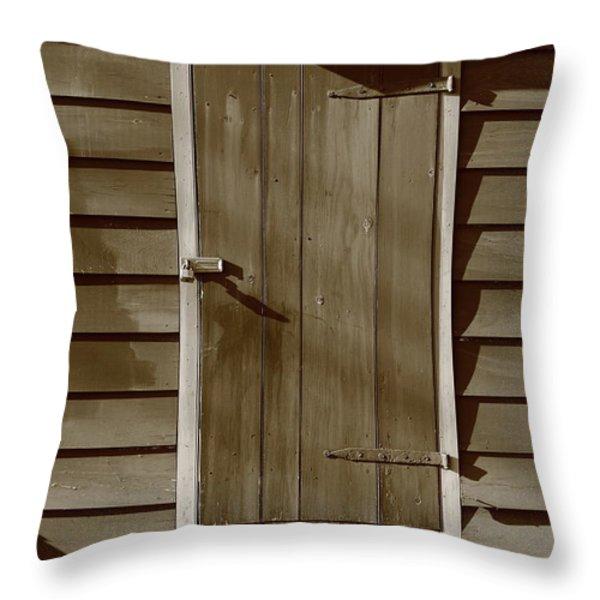 Barn Door Throw Pillow by Frank Romeo