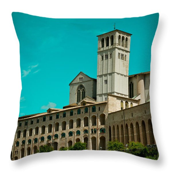 Basilica Of San Francesco Assisi  Throw Pillow by Raimond Klavins
