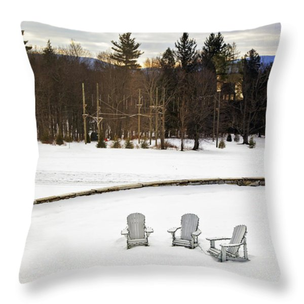 Berkshires Winter 3 - Massachusetts Throw Pillow by Madeline Ellis