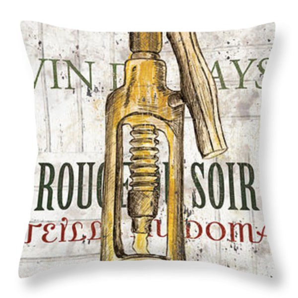 Bordeaux Blanc 1 Throw Pillow by Debbie DeWitt