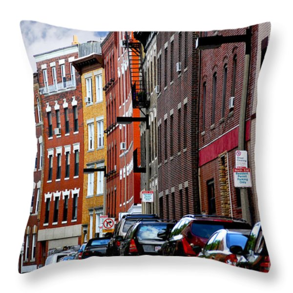 Boston street Throw Pillow by Elena Elisseeva