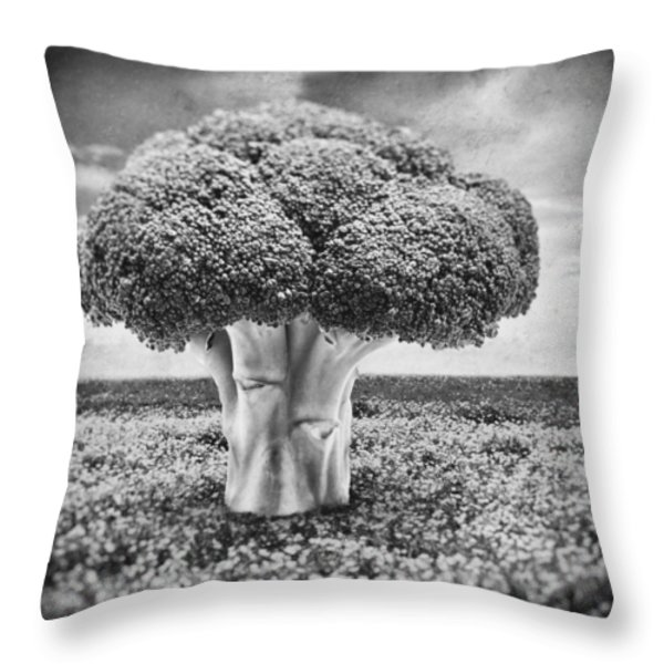 Broccoli Tree Throw Pillow by Wim Lanclus