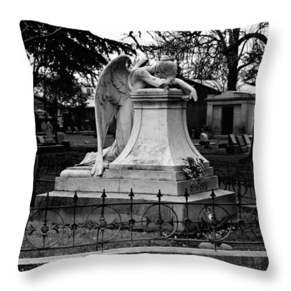 Broken Angel  Throw Pillow by Peter Piatt