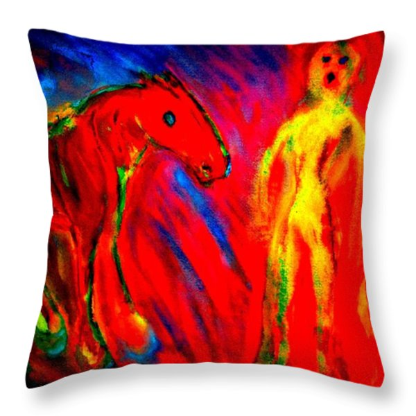 Burning Love  Throw Pillow by Hilde Widerberg