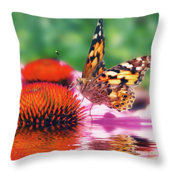 Butterfly Throw Pillow by Angela Doelling AD DESIGN Photo and PhotoArt