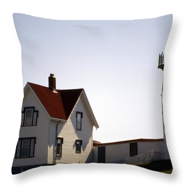 CAPE NEDDICK LIGHTHOUSE Throw Pillow by Skip Willits