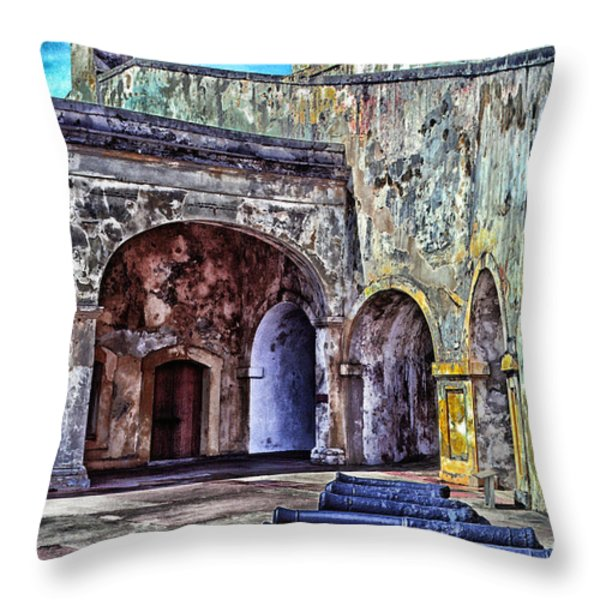 Castillo De San Cristobal Throw Pillow by Thomas R Fletcher
