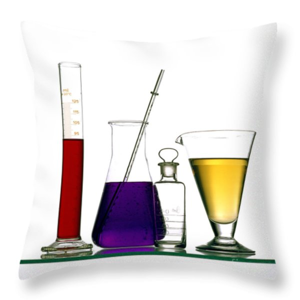Chemistry Throw Pillow by Bernard Jaubert