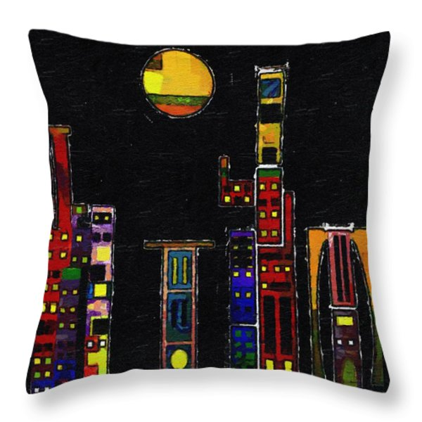 Chinatown Throw Pillow by RC deWinter