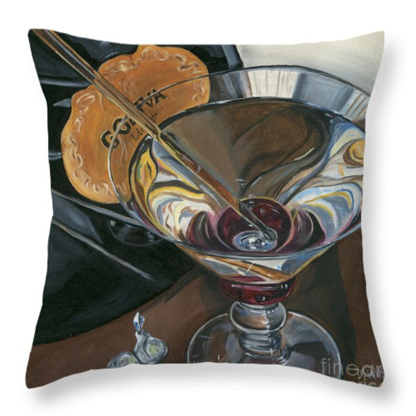 Chocolate Martini Throw Pillow by Debbie DeWitt