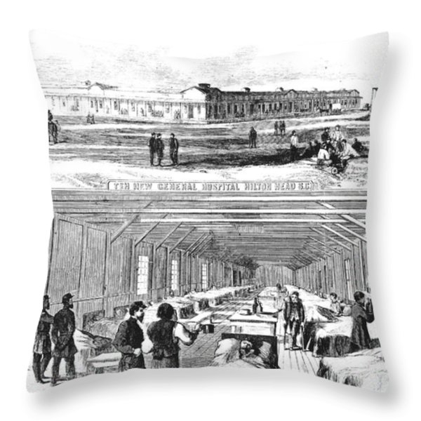 Civil War Hospital Throw Pillow by Granger