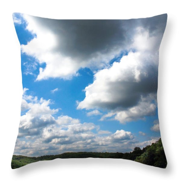 Clouds Throw Pillow by Optical Playground By MP Ray