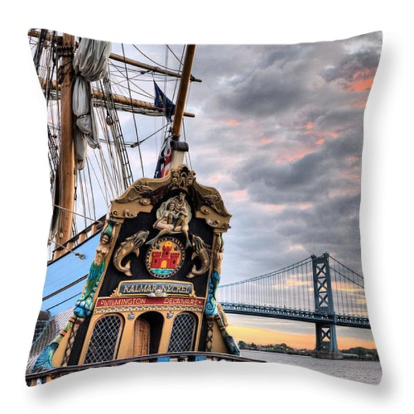 Colors Throw Pillow by JC Findley