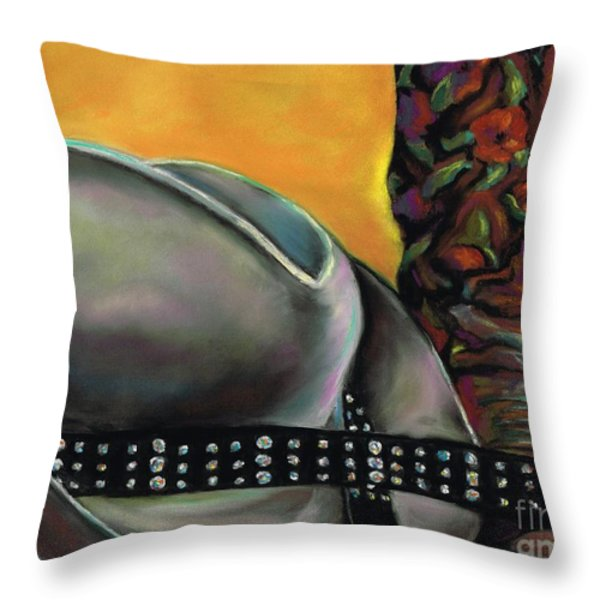 Cowgirl Necessities Throw Pillow by Frances Marino