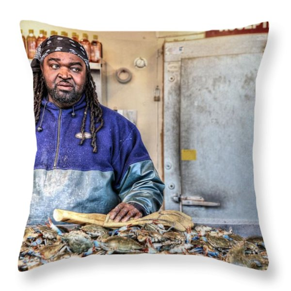 Crabby  Throw Pillow by JC Findley