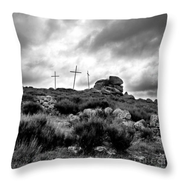 Cross Throw Pillow by BERNARD JAUBERT