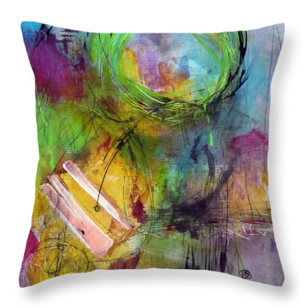 Curious Throw Pillow by Katie Black