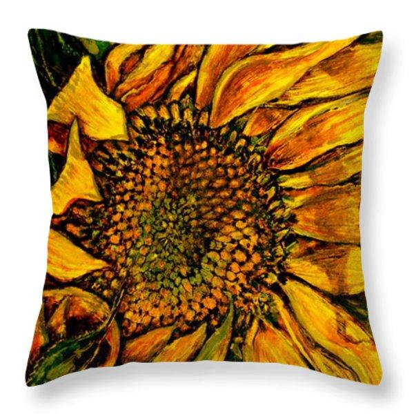 Dancing In The Sun Throw Pillow by Linda Simon