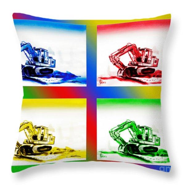 Dozer Mania II Throw Pillow by Kip DeVore