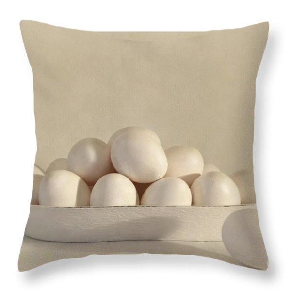 eggs Throw Pillow by Priska Wettstein