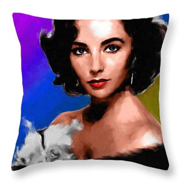 Elizabeth Taylor Throw Pillow by Allen Glass