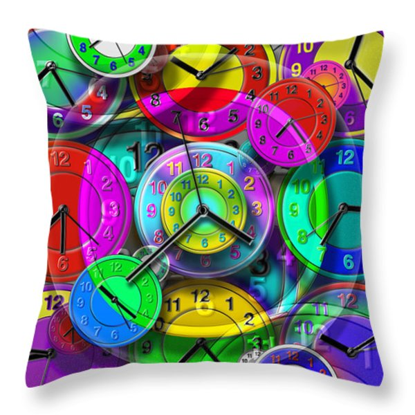 Faces Of Time 1 Throw Pillow by Mike McGlothlen