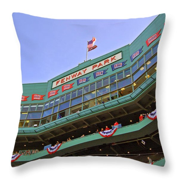 Fenway's 100th Throw Pillow by Joann Vitali