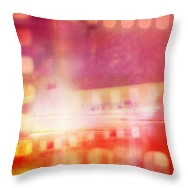 Film negatives  Throw Pillow by Les Cunliffe