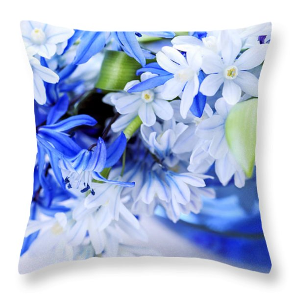 First Spring Flowers Throw Pillow by Elena Elisseeva