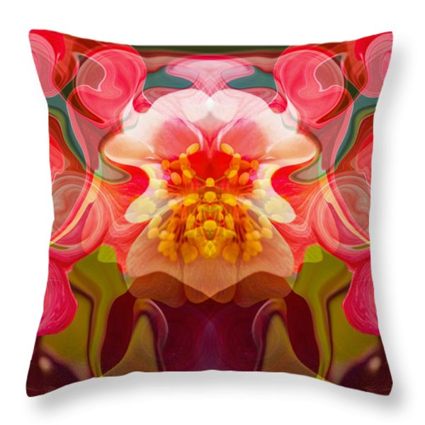 Flower Child Throw Pillow by Omaste Witkowski