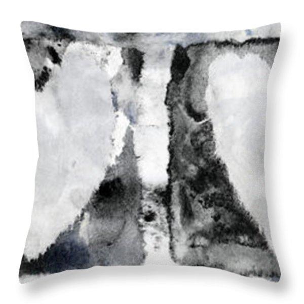 Four Hearts Throw Pillow by Carol Leigh
