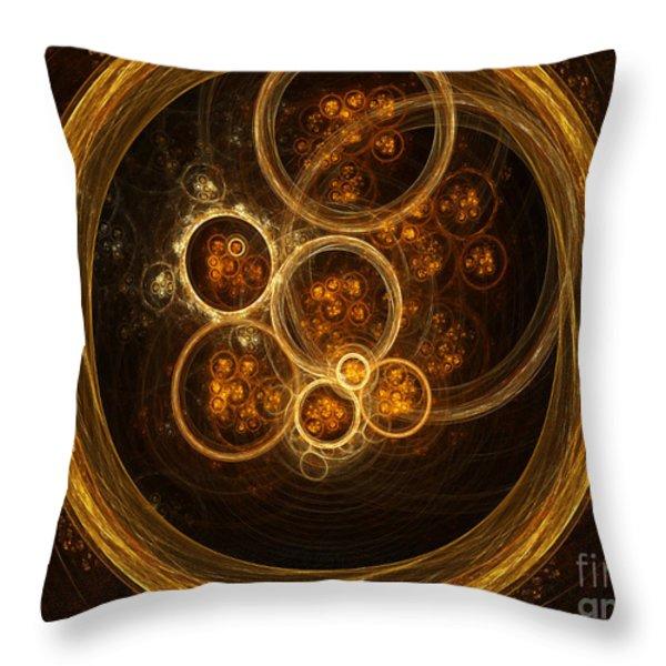 Fractal Flames Throw Pillow by Scott Camazine