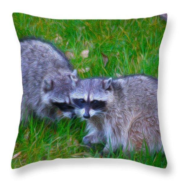 2 Friends Throw Pillow by Cheryl Young