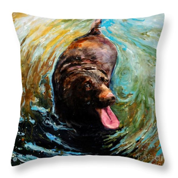 Fudge Ripple Throw Pillow by Molly Poole
