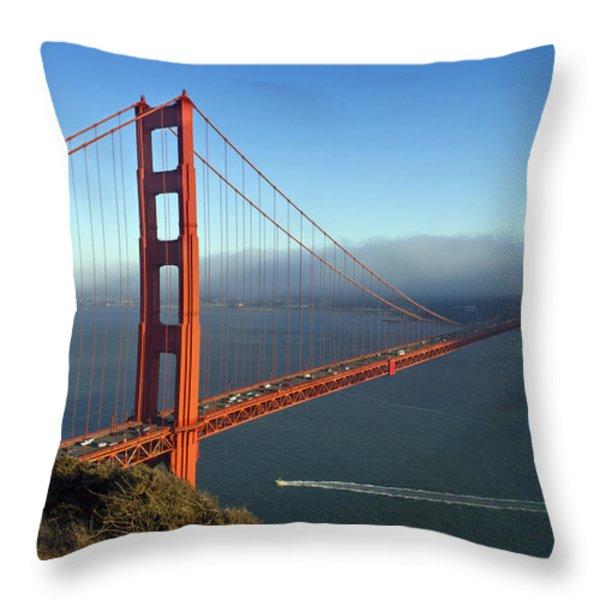 Golden Gate Bridge Throw Pillow by Melanie Viola