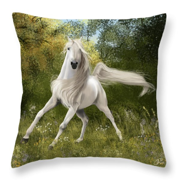 Graceful Throw Pillow by Kate Black